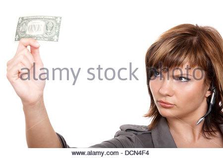 Mädchen mit Geld - Stockfoto