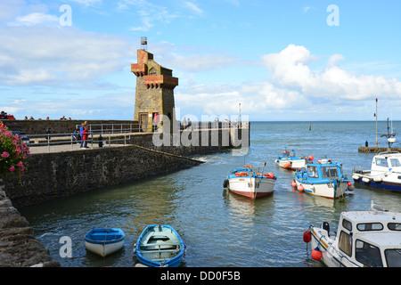 Lynmouth Harbour, Lynmouth, Devon, England, Vereinigtes Königreich - Stockfoto