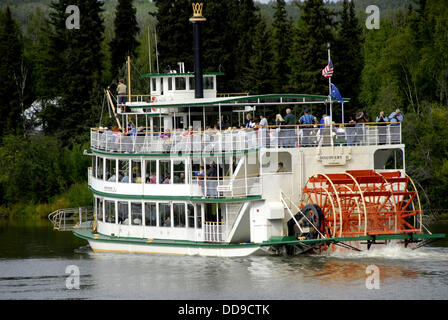 Riverboat Discovery Raddampfer am Chena und Tanana Flüsse Fairbanks Alaska Alaska Highway ALCAN Al-Can AK-Konzession - Stockfoto
