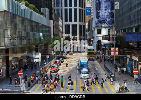 China, Hongkong, Hong Kong Island, Des Voeux Road Central - Stockfoto