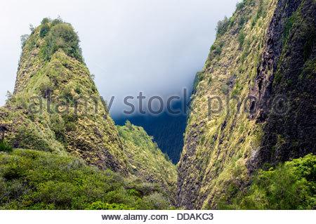 Suche Berg Iao Valley auf Maui Hawaii. - Stockfoto