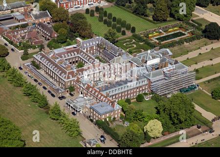Luftaufnahme des Kensington Palace in London, Heimat von Prinz William und Kate Middleton die Herzogin von Cambridge