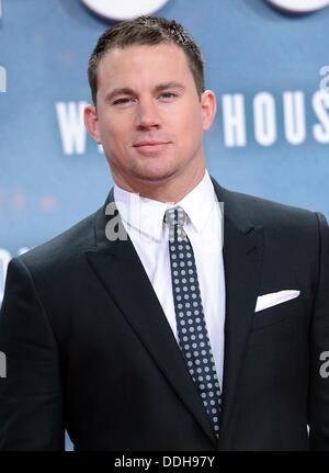 """Berlin, Deutschland. 02. September 2013. US-Schauspieler Channing Tatum kommt bei der Premiere von """"White House - Stockfoto"""