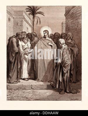CHRISTUS UND DIE TRIBUTE-GELD VON GUSTAVE DORE - Stockfoto