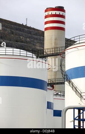 Bahia-Bizkaia GuD-Kraftwerk (GuD-Anlage). Hafen von Bilbao, Vizcaya, Baskisches Land, Spanien - Stockfoto