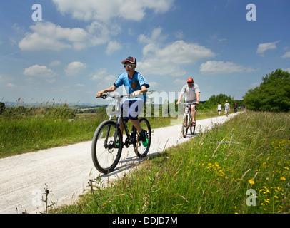 Die Tissington Zyklus Radweg in Derbyshire, die von Ashbourne, Buxton läuft. - Stockfoto
