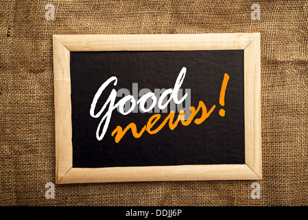 Gute Nachricht Nachricht am schwarzen Brett