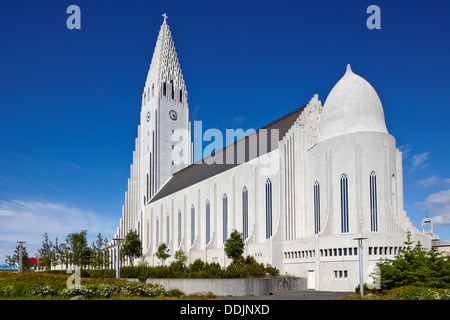 Hallgrimskirkja Kirche, Reykjavik, Island - Stockfoto