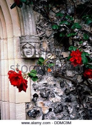 Detail der St Margarets Kirche, Rottingdean, East Sussex. Künstler: Adam Swaine - Stockfoto