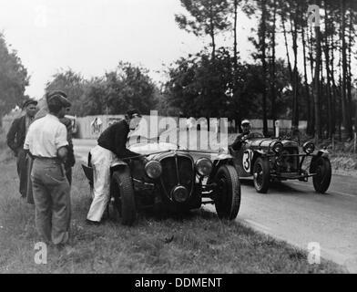 24 Stunden von Le Mans, Frankreich, 1938. Artist: Unbekannt - Stockfoto