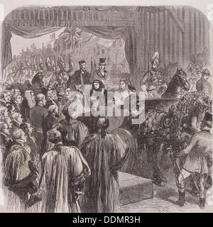 Königin Victoria eröffnet Blackfriars Bridge, London, 1869. Künstler: JG - Stockfoto