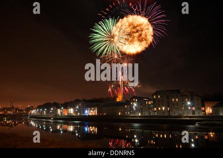 Lancaster City Feuerwerk, 2011 - Stockfoto