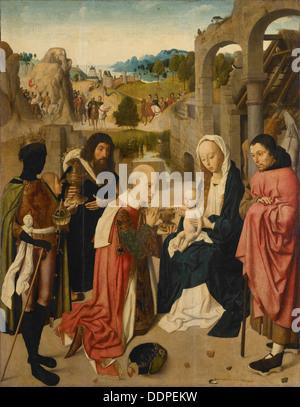 Die Anbetung der Könige, 1490. Künstler: Geertgen Tot Sint, Jans (ca. 1460-ca. 1490) - Stockfoto