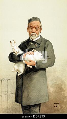 """Französischen Chemiker Louis Pasteur - Cartoon von """"Vanity Fair"""", Januar 1887 - Stockfoto"""