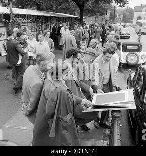 Open-Air-Kunstausstellung, Hampstead Heath, London, 1957-1962. Künstler: John Gay - Stockfoto