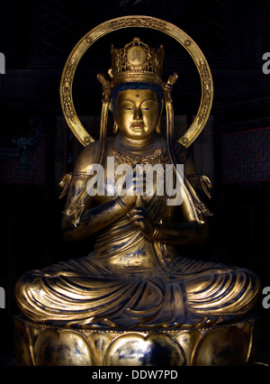 Goldene Statue der Dainichi Nyorai Kiyomizu Tempel, Kyoto, Japan - Stockfoto