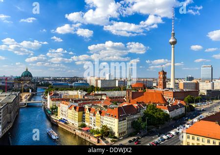 Berlin Skyline Panorama, Deutschland - Stockfoto