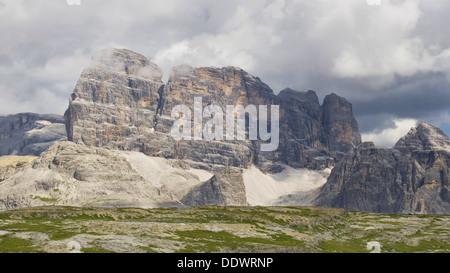 Croda dei Toni (Zwolferkofel), Dolomiten, Italien. - Stockfoto