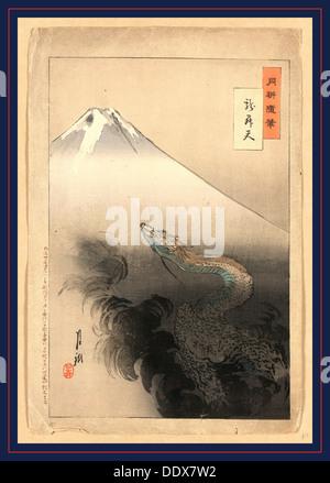 Ryu shoten, Drachen steigen in den Himmel. 1897., 1 print: Holzschnitt, Farbe; 37,5 x 24,7 cm., zeigt Print, eine - Stockfoto