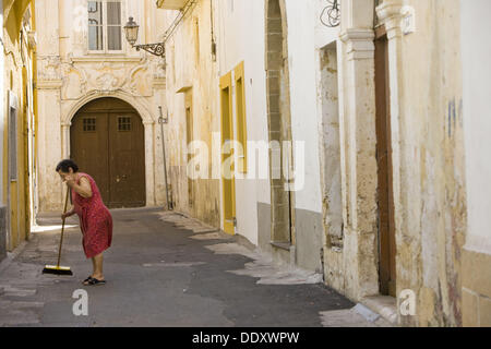 Altstadt, Gallipoli. Provinz Lecce, Apulien, Italien - Stockfoto