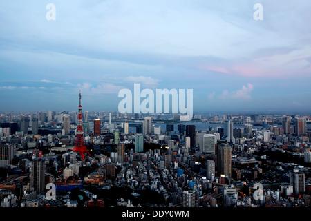 Skyline von Tokyo - Stockfoto