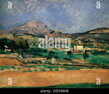 """""""Die Ebene von Mont Sainte-Victoire"""", 1882-1885.  Künstler: Paul Cezanne - Stockfoto"""
