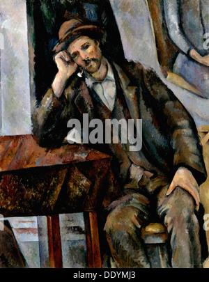 """Raucher"", 1890-1892.  Künstler: Paul Cezanne - Stockfoto"
