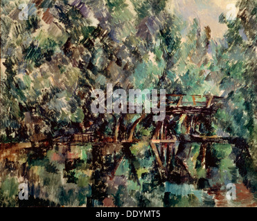 """""""Eine Brücke über einen Teich"""", c1898.  Künstler: Paul Cezanne - Stockfoto"""