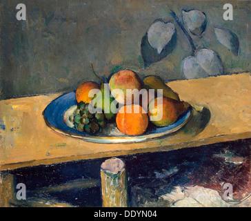 """""""Äpfel, Birnen und Trauben"""", 1879-1880.  Künstler: Paul Cezanne - Stockfoto"""