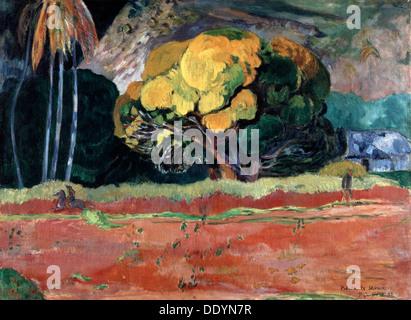 'Fatata Te Moua (am Fuße eines Berges)', 1892.  Künstler: Paul Gauguin - Stockfoto
