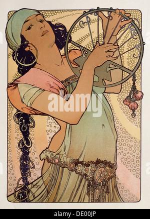 """""""Salome"""", 1897.  Künstler: Alphonse Mucha - Stockfoto"""