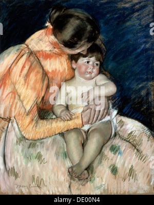 """Mutter und Kind"", Ende 19. / Anfang 20. Jahrhunderts.  Künstler: Mary Cassatt - Stockfoto"
