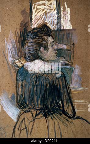 """Frau am Fenster"", 1889.  Künstler: Henri de Toulouse-Lautrec"