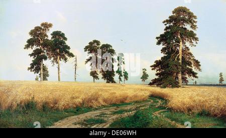 """Rye Field"", 1878.  Künstler: Ivan Shishkin - Stockfoto"