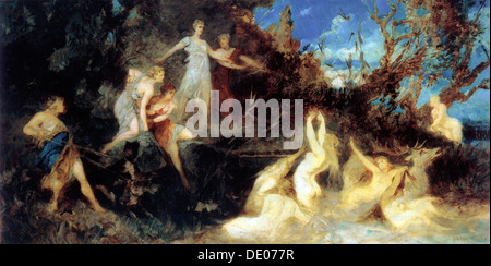 """Die Jagd der Diana"", (Studie), 1879.  Künstler: Hans Makart - Stockfoto"