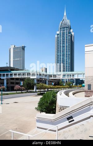 RSA Battle House Tower in der Innenstadt von Mobile ist das höchste Gebäude in Alabama - Stockfoto