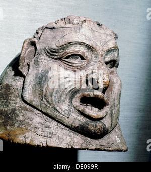cc4ed5298858 ... Geschnitzten hölzernen Helm, Tlingit, Nord-West-Küste von Amerika.  Künstler