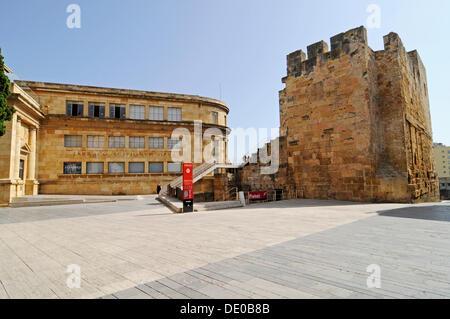 Museu Nacional de Arqueologic de Tarraco, Archäologisches Museum, Torre del Pretori, Tarragona, Katalonien, Spanien, - Stockfoto