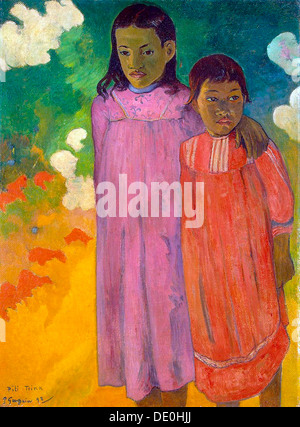 """Piti Tiena"", (zwei Schwestern), 1892.  Künstler: Paul Gauguin - Stockfoto"