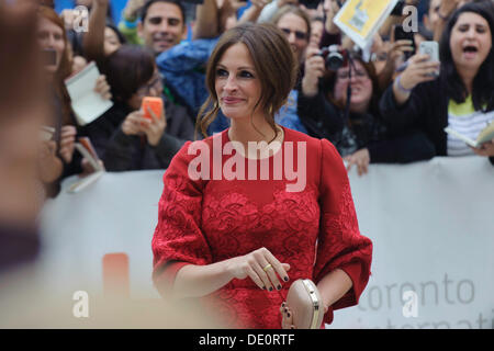 Toronto, Kanada. 9. September 2013. Julia Roberts kommt bei Toronto International Film Festival Premiere August: - Stockfoto