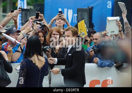 Toronto, Kanada. 9. September 2013. Ewan McGregor kommt bei Toronto International Film Festival Premiere August: - Stockfoto