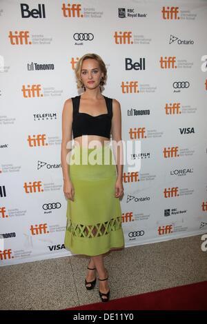 Toronto, Kanada. 9. September 2013. Schauspielerin Jess Weixler besucht die Premiere von 'The verschwinden von Eleanor - Stockfoto