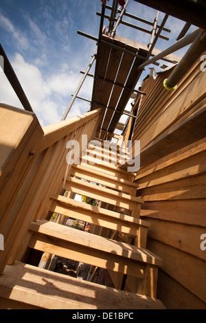 selbst bauen haus garage pegging treppe frame h mmern in runde d bel st psel gerahmt gr ne. Black Bedroom Furniture Sets. Home Design Ideas