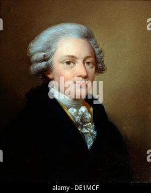"""""""Porträt des Komponisten Wolfgang Amadeus Mozart"""" (1756-1791), c1783. Künstler: Jozef Grassi - Stockfoto"""