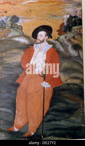 Porträt eines niederländischen Seemanns langen fließenden Hosen und indischen Hausschuhe tragen. - Stockfoto