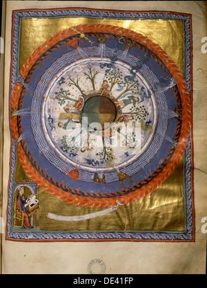 """Die Beleuchtung von Hildegard von Bingen """"Liber divinorum operum"""" oder """"Buch der göttlichen Werke, in denen ihre - Stockfoto"""