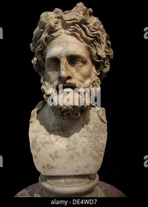 Asklepios, Gott der Medizin und Heilung. (Römische Kopie einer griechischen Statue von Phyromachos), 2. vorchristlichen - Stockfoto