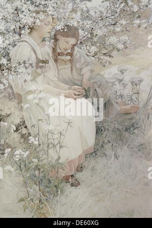 Selig die reinen Herzens sind: denn sie Gott, 1906 sehen. Künstler: Mucha, Alfons Marie (1860-1939) - Stockfoto