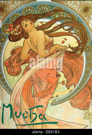 Tanz (aus der Serie The Arts), 1898. Künstler: Mucha, Alfons Marie (1860-1939) - Stockfoto