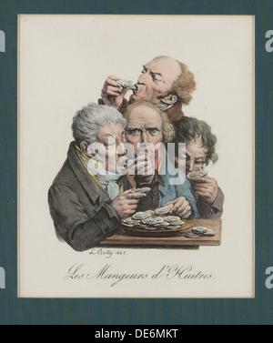 Schlürfen Austern, 1825. Artist: boilly Louis-Léopold, (1761-1845) - Stockfoto